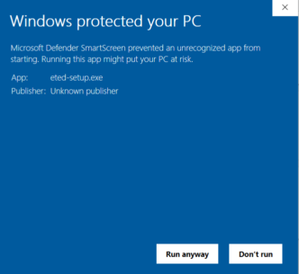 Opozorilo SmartScreen 2